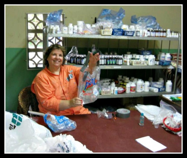 Becky Sorrell of Ritch's Pharmacy in Mountain Brook served as clinic pharmacist.