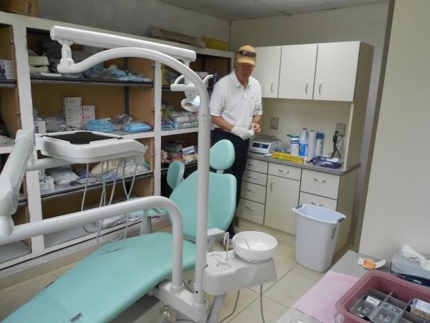 The beautiful new dental clinic in Cienaguita.
