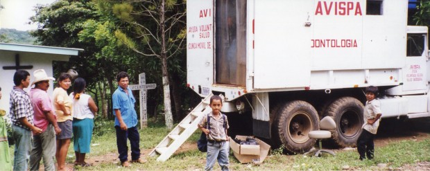 The dental clinic in a truck, which we used before the new dental clinic was completed.